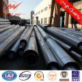 Economical 132kv Bitumen Galvanized Steel Pole
