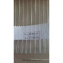 Tissu à rideaux transparents Organza Free Fashion Stripe 201505