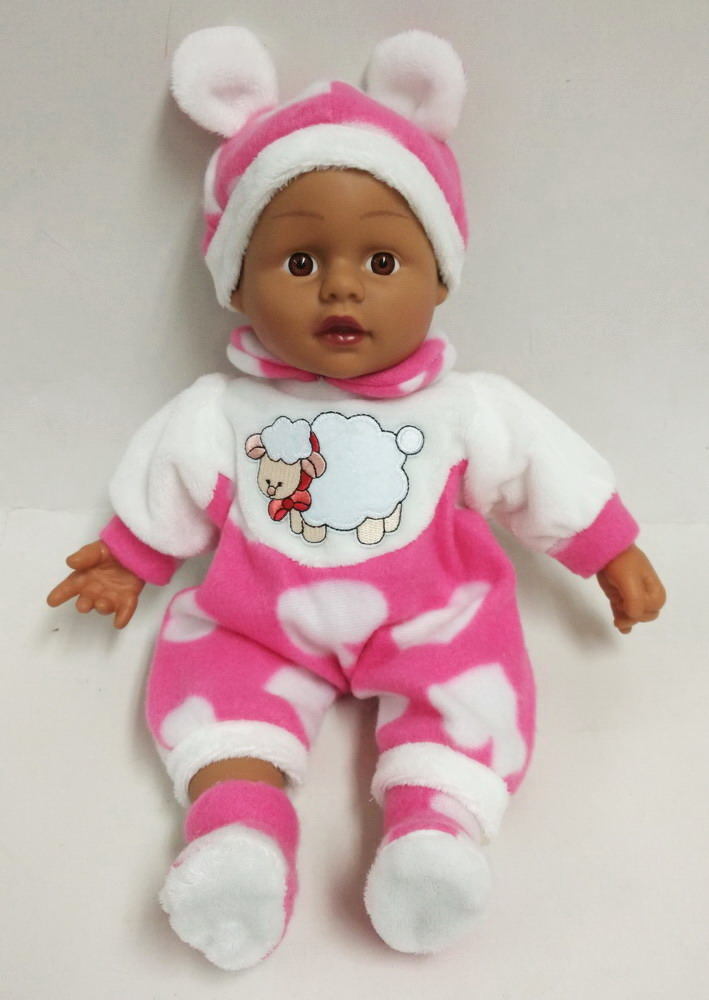 Pink Brown Skin Vinyl Doll