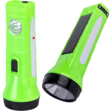 Солнечный светодиодный фонарик с аккумуляторной батареей