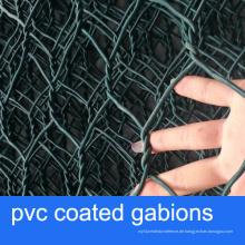 Ausgezeichnete Korrosionsbeständigkeit PVC beschichtete Gabion Körbe