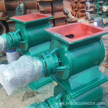 Cement dust star type ash relief valve device
