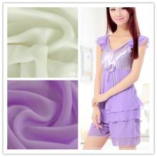La mousseline de polyester de vente en gros et chaude pour des vêtements de nuit