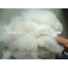 Blanco mongol 100% natural de la fibra de la cachemira 16.5mic / 32-34m m fábrica