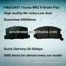 Pièces de frein semi-métalliques D657 Toyota MR2