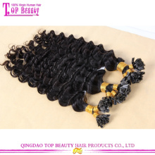 Wholesale cheap top quality unprocessed brazilian deep wave virgin hair u tip hair extension