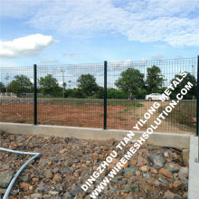 Green Weld Mesh Decorative Fencing Designs