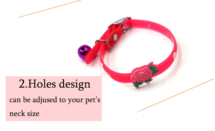 red silicone pet collar