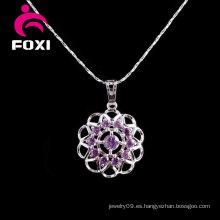 Nueva joyería de plata de la piedra preciosa del diseño