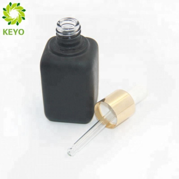 Печать логотипа капельницы розовое золото крышки бутылки стеклянная бутылка с пуш-топ-капельницы 1 унция