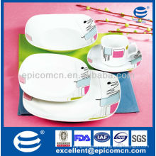 2014 20pcs porcelain square dinnerware set wholesale kitchenware suppliers