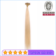 Pre-Bonded Cuticles Aligned Unprocessed Special I Tip Human Virgin Hair Extension Remy Hair with Iron Rings