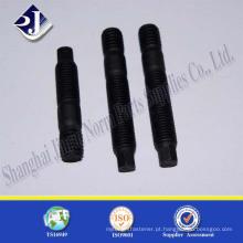 Fabricante de alibaba parafuso prisioneiro de aço carbono com acabamento preto