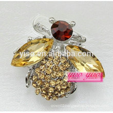 little busy yellow bee crystal animal brooch pin