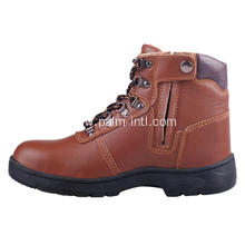 Smooth Leather/Steel Toe Cap Safety Boots