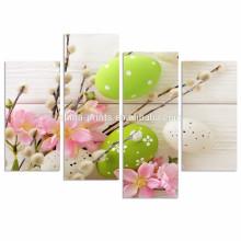 Decoração moderna da parede da arte da lona / ovos da cor Impressão da fotografia em canvas / canvas felizes da lona da páscoa