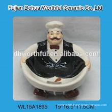 Morden cook chef design ceramic candy plate
