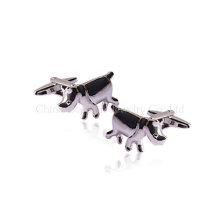 Nashorn Modellierung personalisierte Silber Hochzeit Manschettenknöpfe für Männer