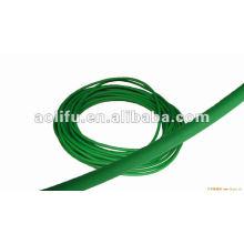 polyuréthane rondes couleur verte rugueuse de ceinture 8mm