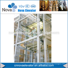 1000KGS, 1.75m / s Подъемник MRL, панорамный лифт, стеклоподъемник