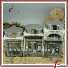 ceramic three decal canister sets