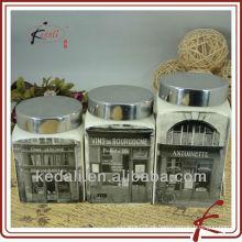 Cerâmica três conjuntos de caixas de decalque
