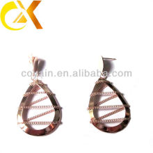 pictures of gold earrings Stainless Steel jewelry earrings