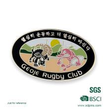 Emblema feito sob encomenda do Pin do clube do rugby com seu próprio logotipo