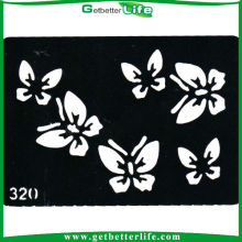 China Temporary Glitter Tattoo Butterflies Stencil (11*8cm)