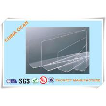 Folha de PVC transparente dura para espelho