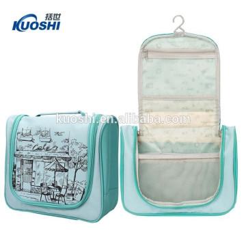 Cheap Comestic Bag lienzo liso con malla