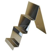 Expositor de carteira de aço inoxidável polido espelho