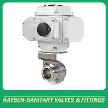 Abrazadera de válvula de mariposa eléctrica sanitaria 3A / SMS / ISO / DS