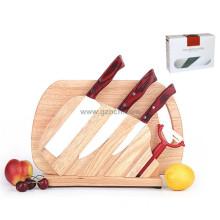 colorful your life wooden handle ceramic knife 6pcs set