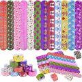Шлепните браслеты с разноцветными сердечками Emoji и единорогом