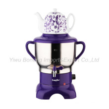 Sf270-588 (purple) Turkish Samovar, Electric Kettle, Russian Samovar with Ceramic Teapot