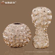 vase en résine ronde décorative domestique de haute qualité