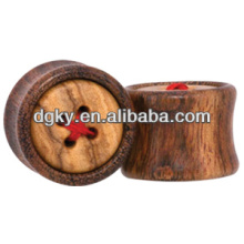 Button wood swimming ear plugs