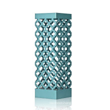 Blue Metal Umbrella Stand Rack Square with Drip Tray and Hook for Home Store Decorations