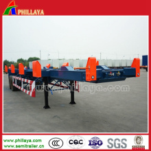 Tri-Axles Skeletal Container Truck Semi Trailer with Container Lock
