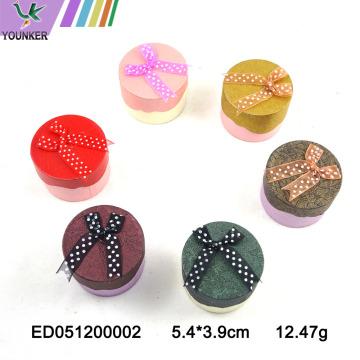 Le logo personnalisé a coloré l'arc de ruban de boîtes de bague de bijoux