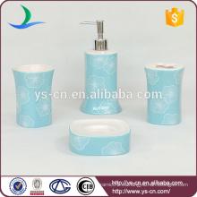 Belleza acaleph patrón de baño de cerámica azul conjunto para el hogar