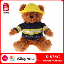 Custom Firemen Uniform Stuffed Teddy Bear Plush Toy