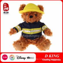 Пользовательские Пожарные Униформа Плюшевый Мишка Плюшевые Игрушки