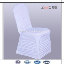 2016 mais populares casamento mais barato usado branco plissado cadeira de spandex