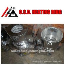 Réchauffeur en fonte d'aluminium anneau de chauffage en aluminium pour extrudeuse en plastique