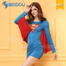 2016 Необычные платья Японский медсестра Супермен Сексуальный костюм Хэллоуина