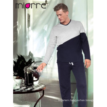Miorre Men's Sleepwear %100 Cotton Long Sleeve Pajamas Set