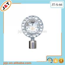 Flexible Hohlmetall-Vorhangstange mit Diamantvorhang-Finials