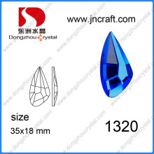 Delicate Cut 18*35mm Glass Jewelry Crystal Part Stone